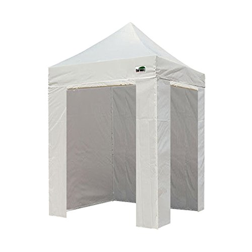 Eurmax 5 X 5 Pop up 4 Wall Canopy Photo Booth Instant Canopies with 4 Side Walls and Carry Bag (White)
