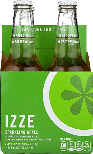 Izze (NOT A CASE) Sparkling Apple Flavored Juice Beverage 4 Count