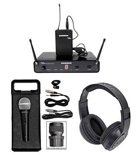 (SAMSON Concert 88 Presentation Wireless Lavalier Microphone+Wired Mic+Headphones)