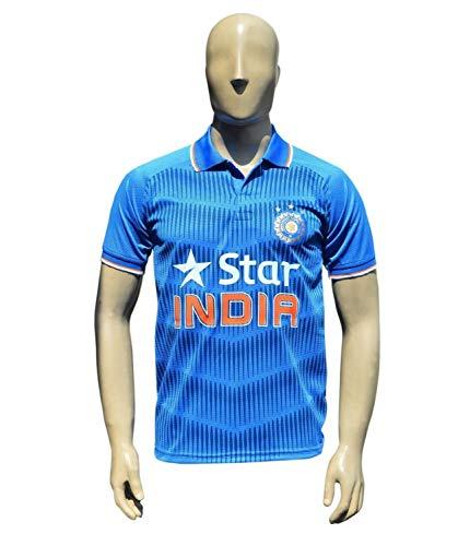 KD Cricket Team India Jersey Cricket Supporter T Shirt Star Team Uniform 2017-18 Kids to Adults(KO,46) ()