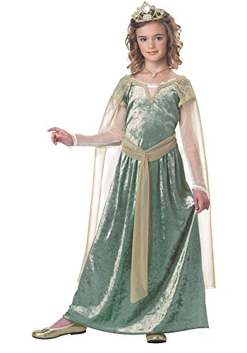 King Arthur Halloween Costume (California Costumes Queen Guinevere Child Costume, X-Large)