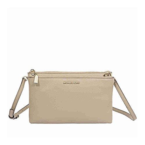 Michael Kors Adele Double Zip Crossbody Bag- Truffle