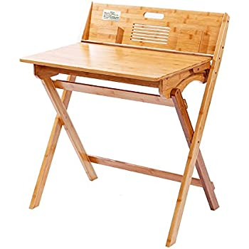 Amazon Com Mallboo Bamboo Desk Folding Study Computer