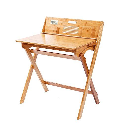 Mallboo Bamboo Desk Folding Study Computer Corner Table