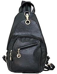Moonwind Women PU Sport Sling Chest Pack Shoulder Bag Convertible Backpack Girls