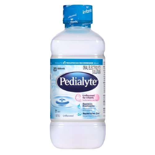 Pedialyte Oral Electrolyte Solution, Unflavored 1.1 qt (1 L) (Pack of 4)