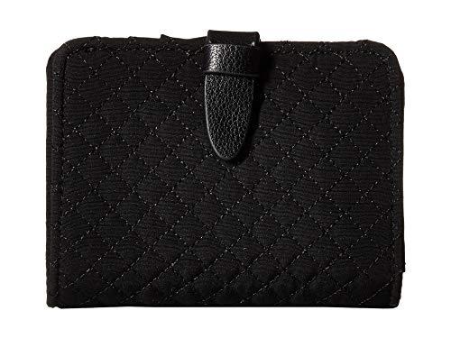 - Vera Bradley Iconic RFID Small Wallet, Microfiber, Classic Black