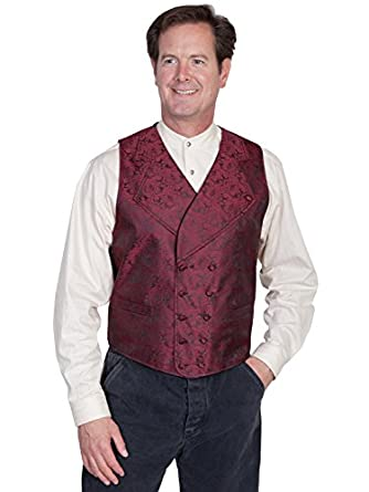 Men's Vintage Christmas Gift Ideas Wide Notched Lapel Vest  AT vintagedancer.com