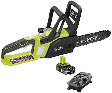 Ryobi P547 10 in. ONE 18-Volt Lithium Cordless Chainsaw Kit