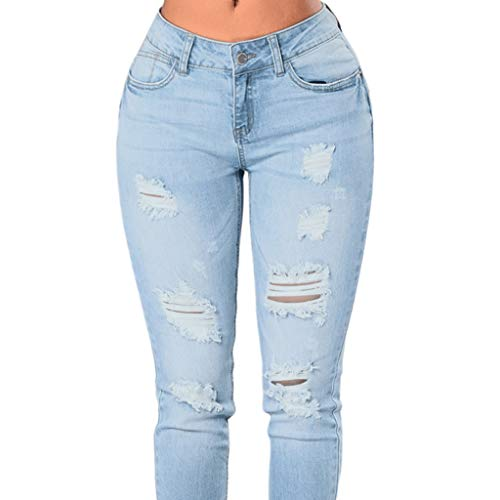 Moda Per Jeans 2 Alta A Foro Rxf Da Con Donna Pantaloni Slim Vita Casual qvFcwzR8