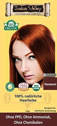 IndoNatura Indus Valley - Tinte para el cabello 100% natural, color rojo