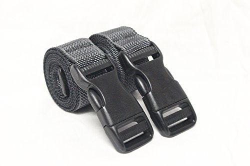 (Molle Backpack Accessory Straps - Quick Release Buckle - Made in USA (Wolf Grey (Military Spec Nylon)))
