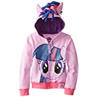 Sudadera con capucha Twilight Sparkle de My Little Pony Big Girls, Púrpura /Multi, 12-14 /Grande