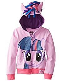 My Little Pony Girls' Rainbow Dash, Twilight Sparkle, Pinky Pie Hoodie