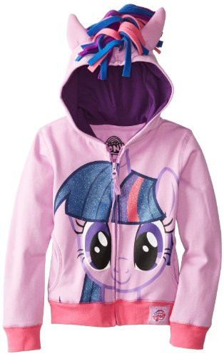 (My Little Pony Big Girls' Twilight Sparkle Hoodie, Purple/Multi, 8-10/Medium)