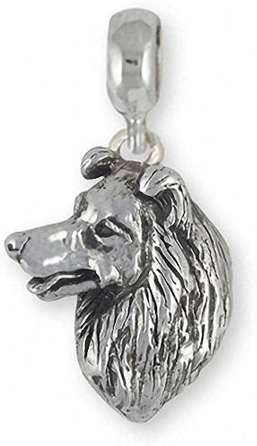 Border Collie Dog Sterling Silver Charm Bettelarmbänder