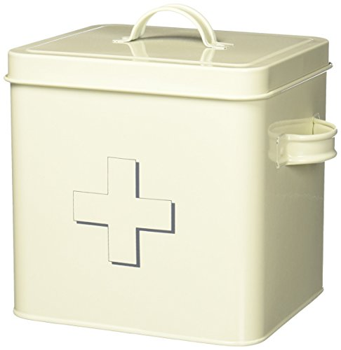 The Leonardo Collection Home Sweet Home First Aid Storage Tin, Cream
