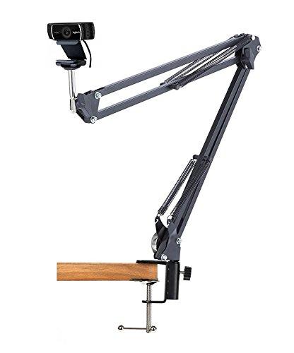 Webcam Mount Desk Clamp Suspension Boom Arm Stand Holder for Logitech Brio 4K, C925e,C922x,C930e Webcam by AceTaken (Image #1)