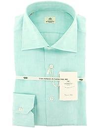 New Luigi Borrelli Green Melange Extra Slim Shirt