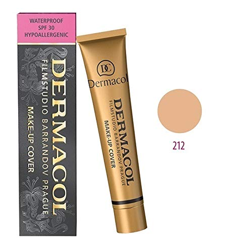 Dermacol Make-up Cover - Waterproof Hypoallergenic Foundation 30g 100% Original Guaranteed from Authorized Stockists (#212)