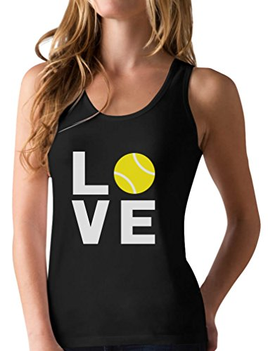 Love Tennis - Gift Idea for Tennis Fans Cool Racerback Tank Top Small Black