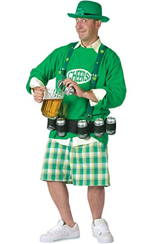 Mememall Fashion Men Cheers and Beers St. Patrick's Day Oktoberfest Adult Costume (Cheers And Beers Costume)