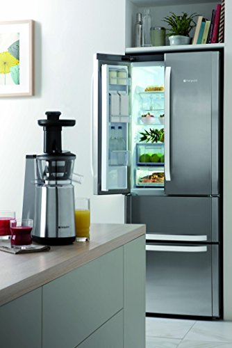 Hotpoint FFU4D X Free Standing Fridge Freezer - Stainless Steel