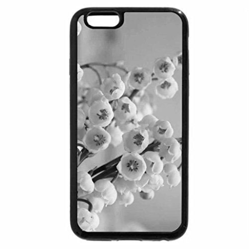 iPhone 6S Case, iPhone 6 Case (Black & White) - Lilies-of-the-valley