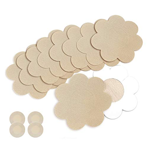 (Nipple Breast Covers, Sexy Breast Pasties Adhesive Bra Disposable (20 Pairs Flower/2 Round))