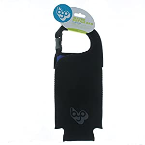Built BYO Water Bottle Bag 25-33oz Insulated Black Neoprene Tote