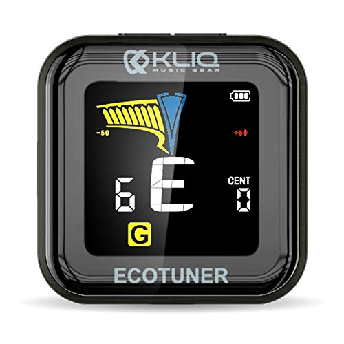 KLIQ EcoTuner - USB Rechargeable Clip-On Tuner (included charging cable) - with Guitar