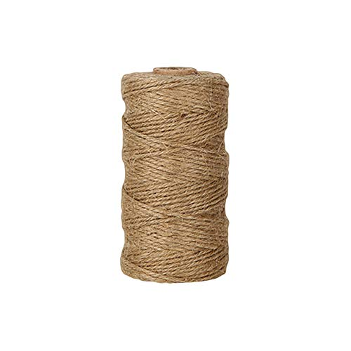 dezirZJjx Hemp Rope,100m 2mm Twisted Natural Jute Twine Burlap String Hemp Rope DIY Gift Craft Decor