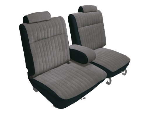 Acme U2003-898L Front Black Vinyl with Silver Velour Bench Seat Upholstery