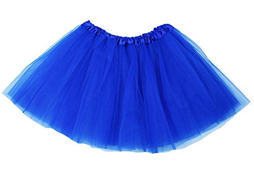 The Hair Bow Company Girl & Teen Tulle Tutu Skirt for 8-16 Years Royal Blue