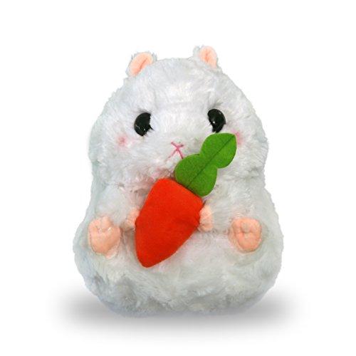 White Plush Hamster Stuffed Animal 10 Inches, TunaLuna Soft Toy Pillow Cushion White Hamster