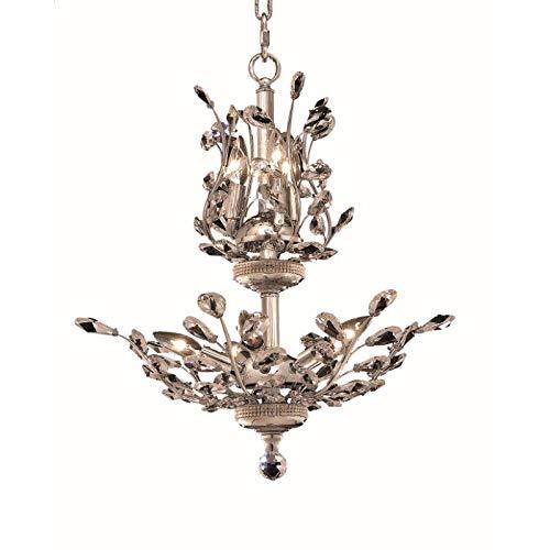 Elegant Furniture Orchid 8 Light Chrome Chandelier Clear Spectra Swarovski - 8 Light Chandelier Orchid