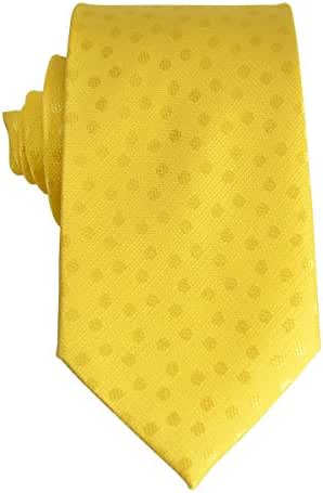 Yellow Paul Malone Silk Tie and Pocket Square . Polka Dots