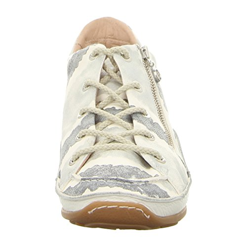 Softwaves 4.69.60 Stripes Alaska - Zapatos de cordones para mujer plateado/blanco