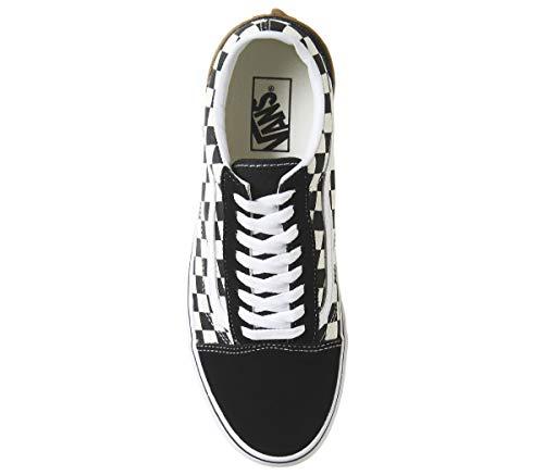 Skool Old Eu Checkerboard white 8g1u58 43 Black Block gum Vans wvqfRf