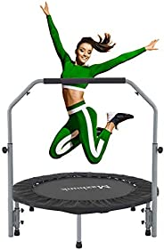 """Maxhunk 40"""" Mini Trampo-line for Adults Kids, Fitness Rebounder with Adjustable Foam Handle, Rebounder Tr"""