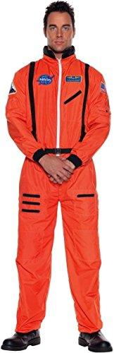 (Underwraps Orange Astronaut Suit Plus Size Costume,)