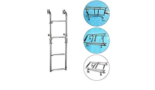 Wateralone Marine Dock Boat Ladder Escalera Plegable De Acero Inoxidable Accesorios Marinos: Amazon.es: Hogar