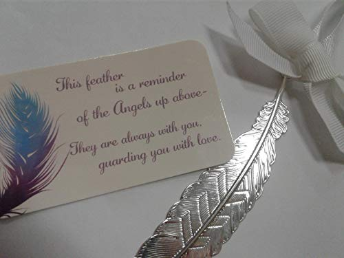 Feather from an Angel Silvertone Christmas Ornament with Wallet Card (Angel Feather Ornaments Wing)