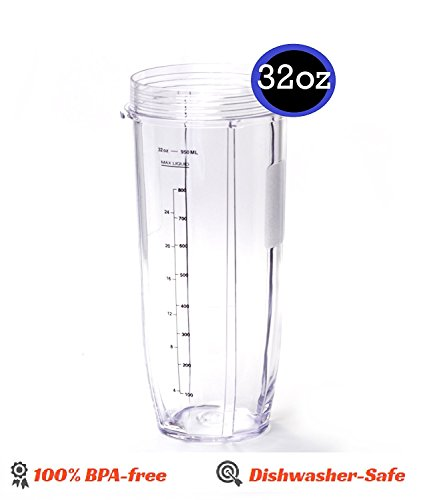 32OZ Large Multi-Serve Cup with Sip And Seal Lid replacement part for Nutri NutriNinja Auto iQ by Enbizio (Image #1)