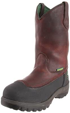 John Deere Men's 11inch WCT waterproof PS Work Boot,Brown,7 M US