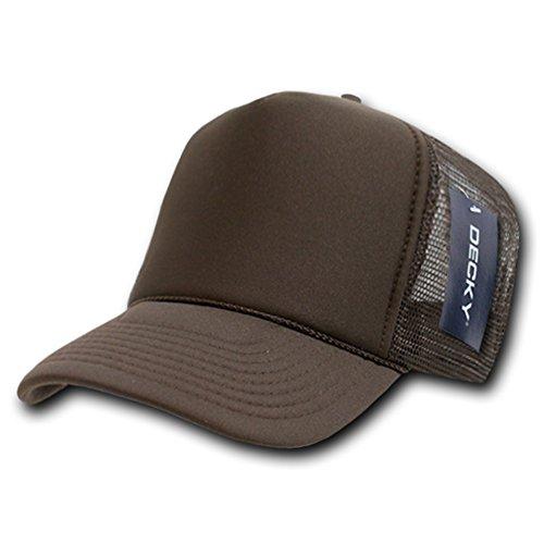 (DECKY Solid Trucker Cap, Brown )