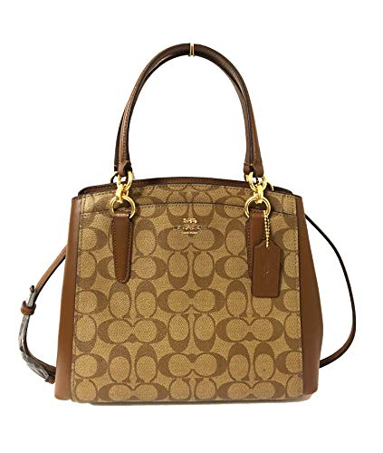 COACH Crossgrain Leather Minetta Crossbody Shoulder Bag (IM/Khaki/Saddle 2)