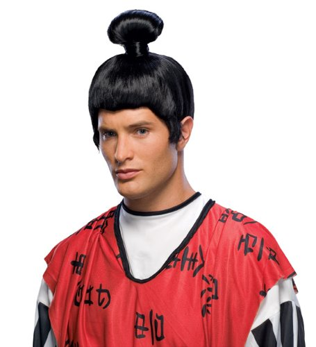 Rubie's Japanese Samurai Wig, Black, One -