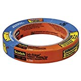 """3M Scotch-Blue 2080 Safe-Release Delicate Surfaces Painters Masking Tape , 19 lbs/in Tensile Strength, 60 yds Length x 1-1/2"""" Width, Blue (Pack of 4)"""