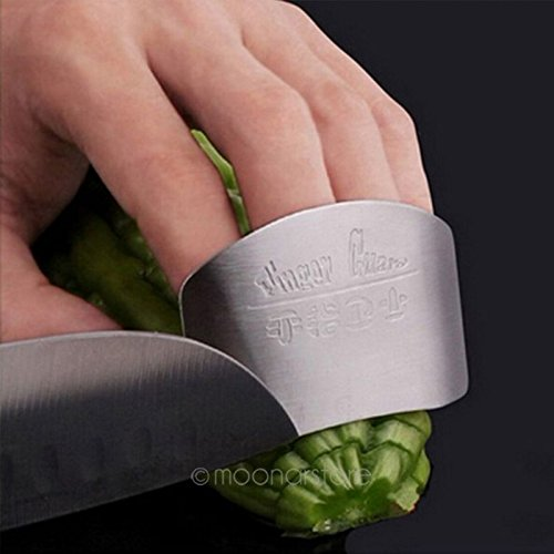 Stainless Steel Finger Hand Protector Guard Chop Safe Slice Knife Cutting Shield Kitchen Tool (6.35.0cm,silver) by LVOERTUIG (Image #5)